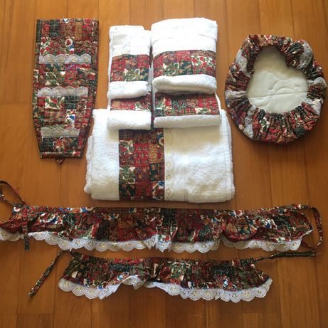 Conjunto toalhas e elementos decorativos para WC - NOVO