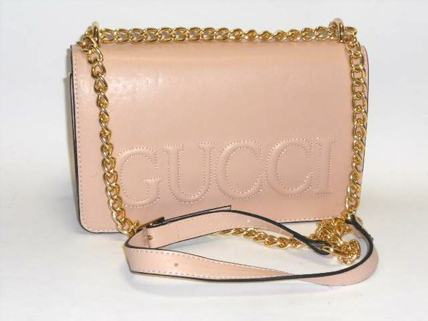 Gucci torebka damska w kolorze ecru piękna listonoszka