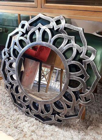 Espelho em Resina Tons Prateado 60cm  ( Novo)