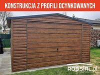 Garaż drewnopodobny 4x6m dwuspadowy z bramą uchylną - wysoka jakość!