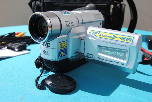 JVC GR FXM 38 VHS-C Analogue Camcorder - máquina de filmar