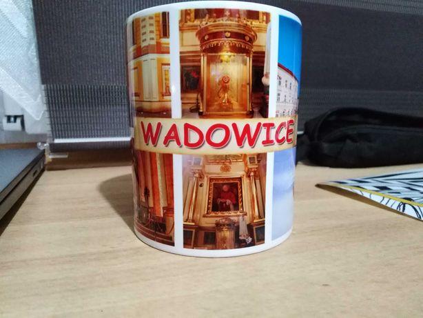 Kubek pamiątkowy z Wadowic nowy