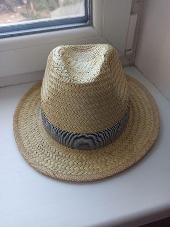 Детская соломенная шляпа федора
