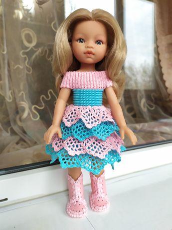 Розово-голубое платье для куклы Паола Рейна, Антонио Хуан или другой