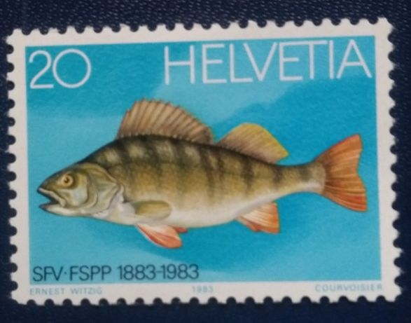 Znaczki pocztowe - Szwajcaria- ryba