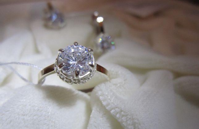 Новое кольцо золото + серебро