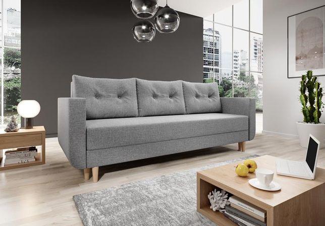 Dostawa 0zł cała PL skandynawska sofa BALDUR sprężyny bonell f.spania