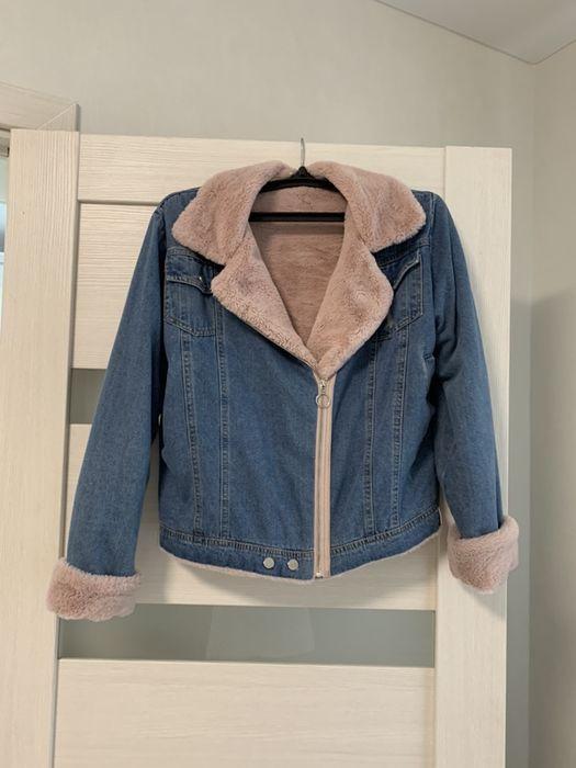 Джинсовая зимняя куртка джинсовка с мехом Одесса - изображение 1