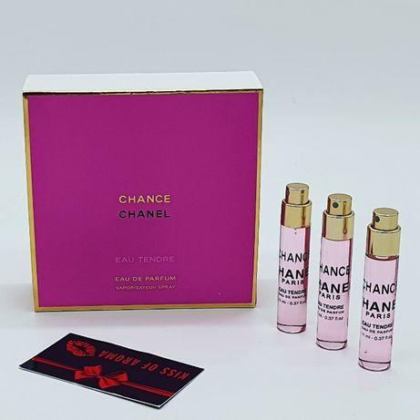 Chanel Chance Eau Tendre - Набор 4 шт по 11 ml Шанель Тендер ОРИГИНАЛ