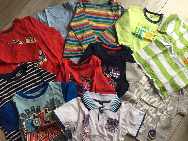 Spodnie, koszulki, paka, ubranka dla chłopaka r. 92