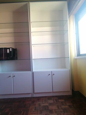 Recheio de casa, estante, mobília quarto, mesa, armário