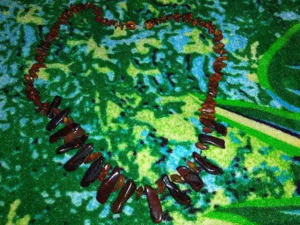 Янтарные бусы (из натурального камня)