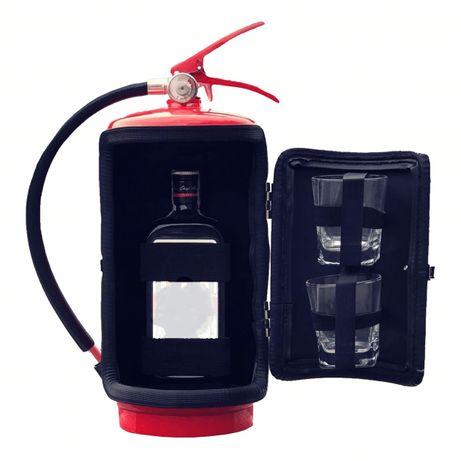 Подарок для мужчин Огнетушитель мини-бар 10 л + 2 стакана