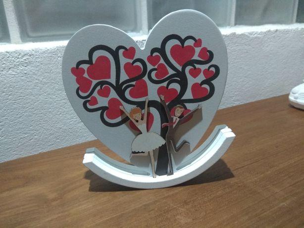 Prezent upominek na ślub wesele serce z drewna