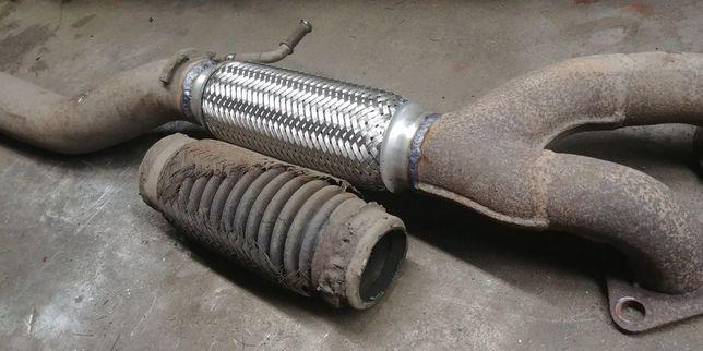 ремонт глушителя выхлопной замена гофры, удаление катализатора сажевог