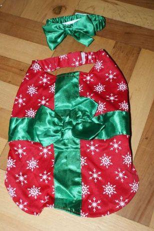 """Ostatnia szt """"Prezent"""" świąteczne ubranko dla małego pieska przebranie"""