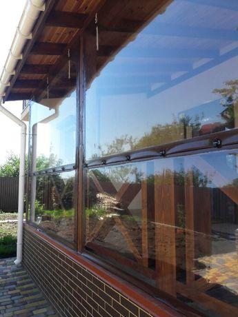 Мягкие окна из ПВХ Винница. Прозрачные защитные шторы из ПВХ-пленки.
