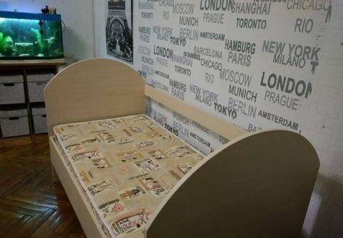 Продам кроватку детскую с матрасом 70*140 см., б/у