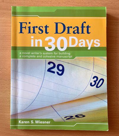 "Livro ""First Draft in 30 Days"", Karen S. Wiesner"
