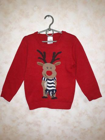 Новогодний детский свитерок,новорічний светр хлопчику