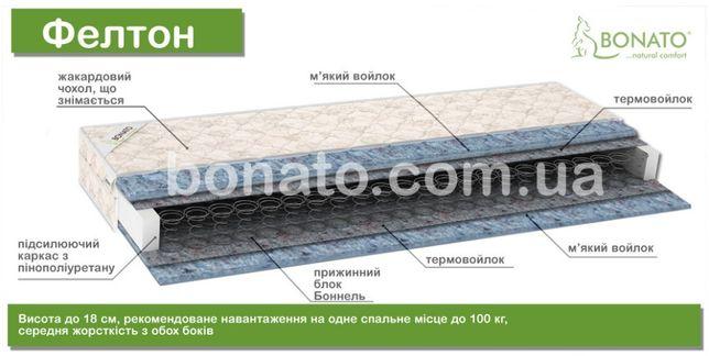 Качественный и недорогой пружинный матрас 1,6на2м со сьемным чехлом