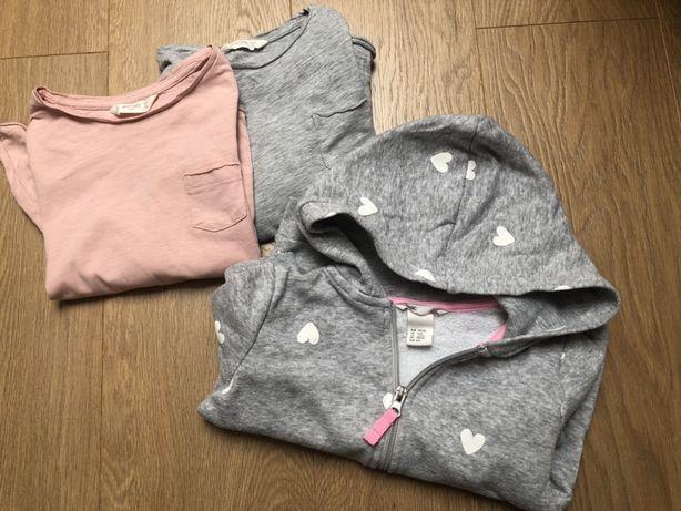 Bluza dresowa z kapturem r. 110, + gratis H&M, Mango