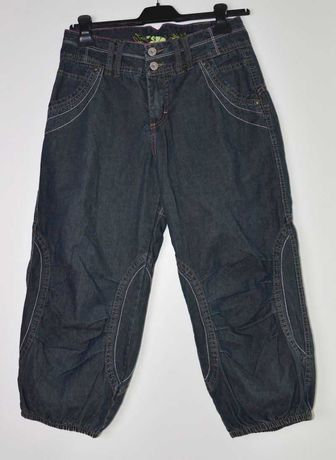 spodnie jeansy 3/4, r. 36