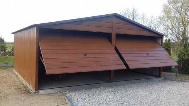 Nowoczesny garaż blaszany 6x5 Złoty Dąb Poznań Garaże blaszane Blaszak
