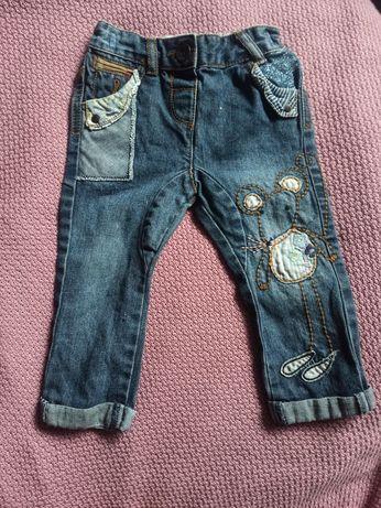Spodnie jeansy next 86 12-18