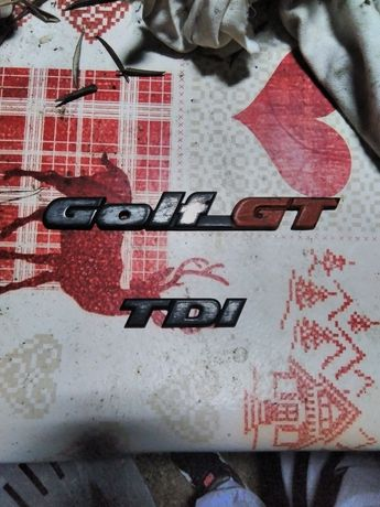 Emblema VW Golf GT TDI