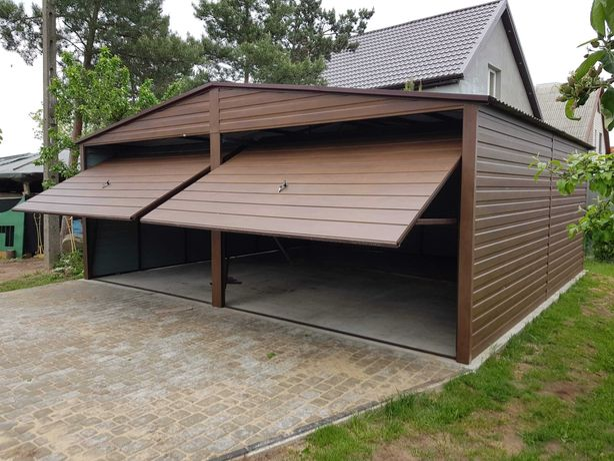Garaż Premium II-Spad Drewnopodobny do 35m2 Cała Wielkopolska
