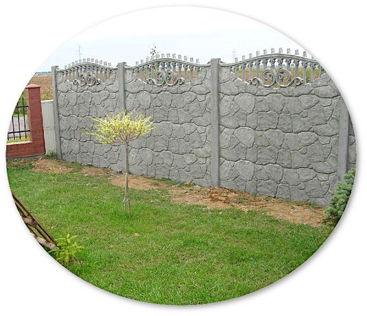 забор бетонный винница