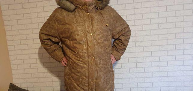 Beżowa kurtka z misiem rozmiar 54