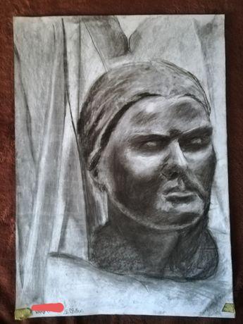 Rysunek, obraz figury gipsowej, figura