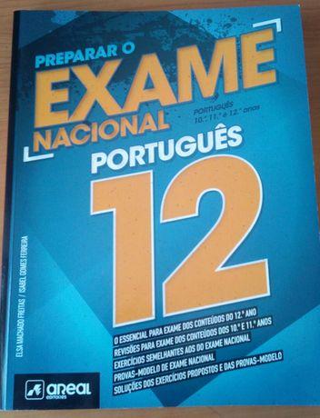 Livro Preparar o Exame Nacional de Português de 12° (como novo)