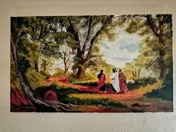 Obraz olejny na płótnie wym 100 /60 malarstwa T. Chołyka