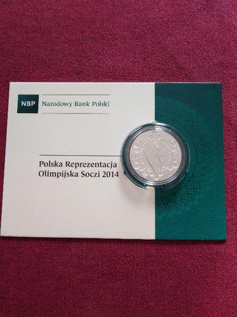 Moneta srebrna 10 zł Polska Reprezentacja Olimpijska Soczi 2014