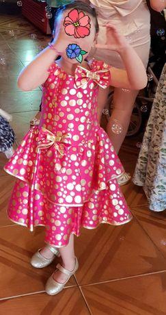 Платье стиляги в горошек