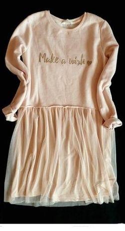 H&M sukienka z tiulem w pastelowym kolorze 34