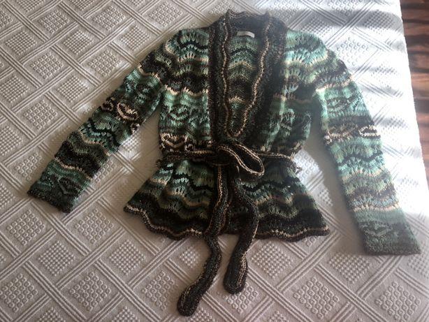 Casaco lã Promod com cinto t3. Mt bonito