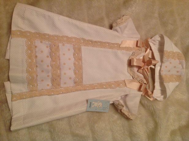Vestido batizado/cerimónia t.18/24 meses