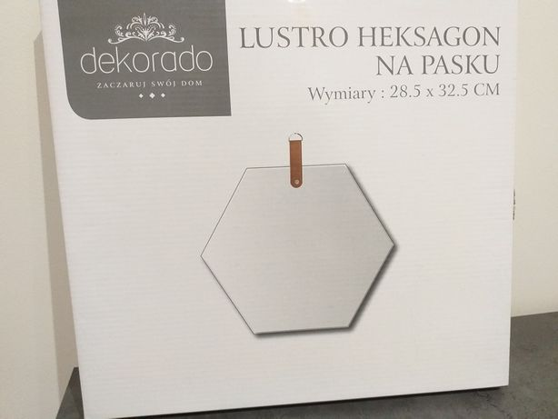 Nowe lusterko wiszące na pasku heksagon