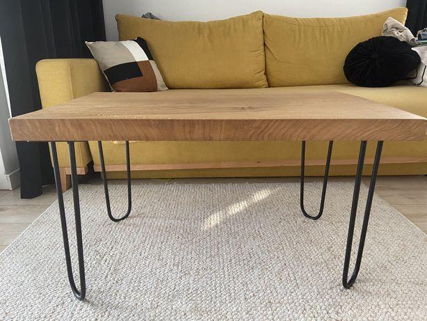 Stolik kawowy dębowy/stół drewniany 90x55