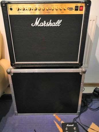 Marshall dsl40c, case, footswich