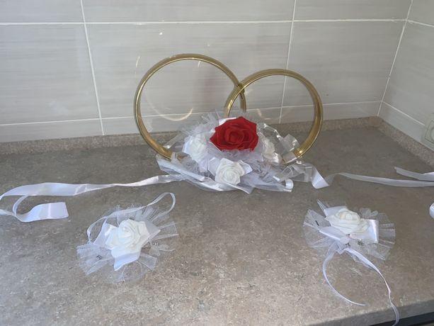 Свадебные украшения на машину (комплект)