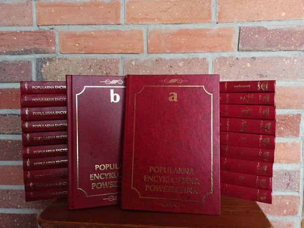 Popularna encyklopedia powszechna 20 tomów + suplement komplet