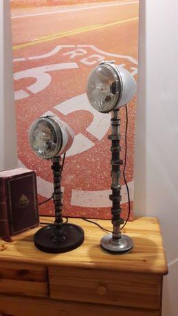 Lampka nocna biurkowa vintage zabytkowa kolejowa oraz z części samocho