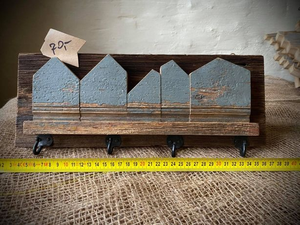 Drewniany wieszak Drewniane wieszaki Wieszak z drewna Loft 15x36,5 cm