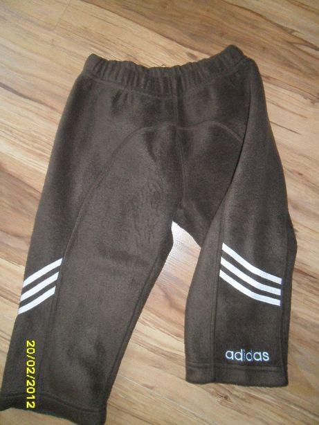spodnie dresowe polarowe ciepłe ADIDAS 92