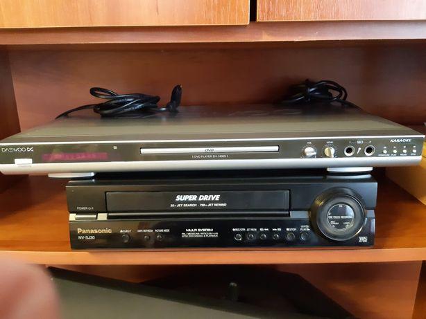 DVD Dewoo и видео магнитофон Panasonic,